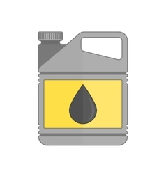 Plastic canister of motor oil vector image vector image