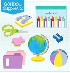 school supplies2 vector image vector image