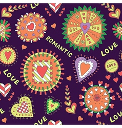 Valentine s Day Abstract Pattern vector image vector image
