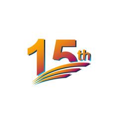 15 th anniversary elegant celebration template vector