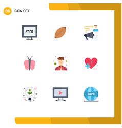 9 universal flat colors set for web and mobile vector