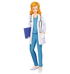 A female doctor vector image