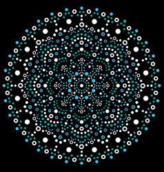 aboriginal dot art mandala retro design vector image