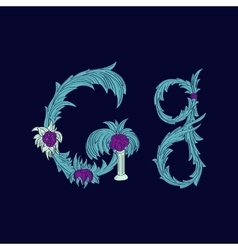 Abstract letter G logo icon in Blue tropical vector