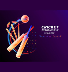 Abstract of cricket sport from vector