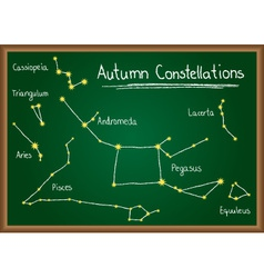 Autumn Constellations on chalkboard vector image