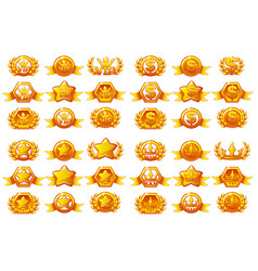 Awards large set creating icons vector
