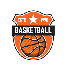 Basketball sport emblems design element for vector