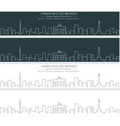 berlin single line skyline banner vector image