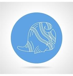 Blue icon for sea fish vector image