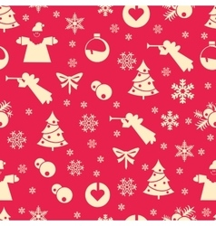 Christmas seamless pastel vector image