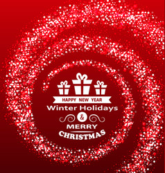 Christmas wishes with magic dust luxury glitter vector