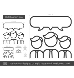 Collaboration line icon vector