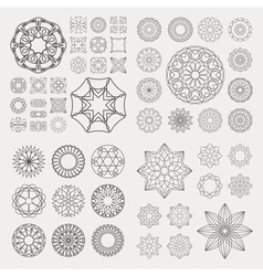 Collection of different graphic elements for desig vector image
