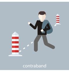 Contraband concept vector