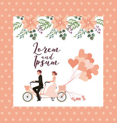 Couple wedding card vector