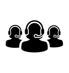 Customer helpline icon female business support vector