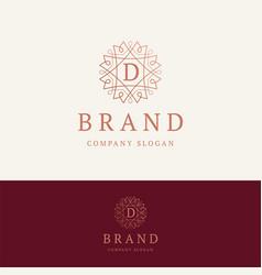 D brand logo vector