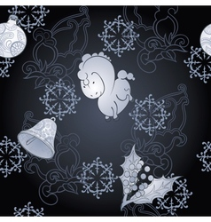 Dark christmas background vector image
