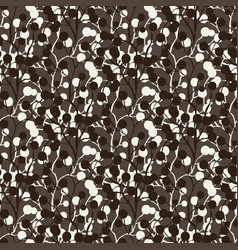 Dark pattern with berry ornament seamless vector