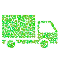 Delivery lorry composition of dots vector
