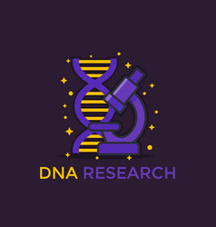 dna research icon vector image
