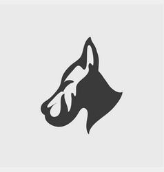 dog logo design vector image