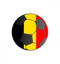 Flag of Belgium and soccer ball vector