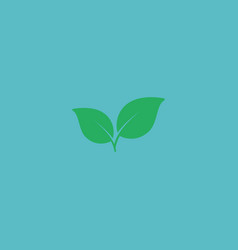 flat icon leaf element of vector image