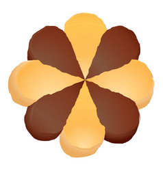 Flower biscuit icon cartoon style vector