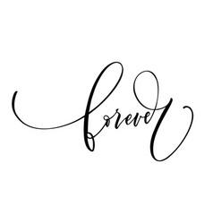 Forever modern brush calligraphy card vector