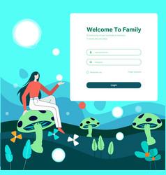 Form landing page design vector