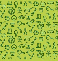 garden tools pattern vector image