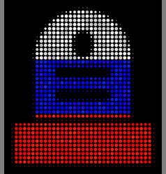 Halftone russian grave icon vector