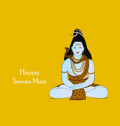 Happy sawan mass vector