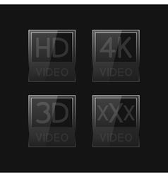 High definition signs vector