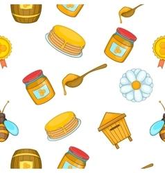 Honey pattern cartoon style vector image