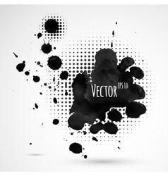 Inky halftone splashes vector image