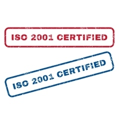 ISO 2001 Certified Rubber Stamps vector