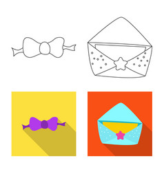 Isolated object of party and birthday icon set of vector