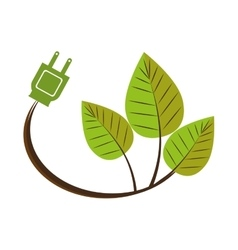leaf recycle envioment nature energy design vector image