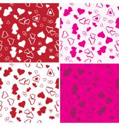 love background set vector image vector image