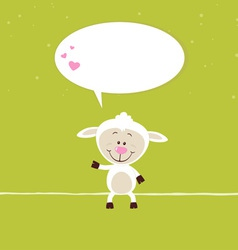 Lovely sheep greeting Card vector image