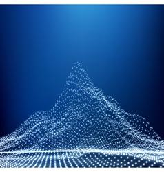 Low Poly Geometric 3D Mountain Landscape Mountain vector image