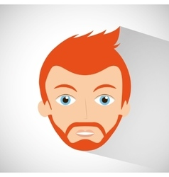 Man character hipster style vector