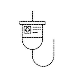 medical plastic bag iv hanging medicine treatment vector image