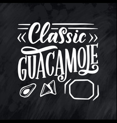 mexican menu lettering with traditional food names vector image
