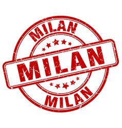 Milan stamp vector