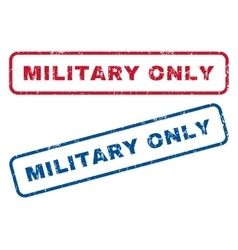 Military Only Rubber Stamps vector image