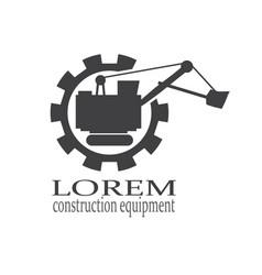 mining or construction machine logo vector image
